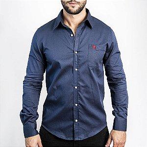 Camisa Marinho Custom Fit - Abercrombie