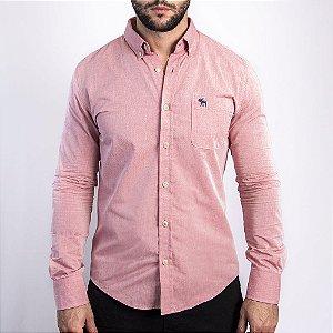 Camisa Rosa Custom Fit - Abercrombie
