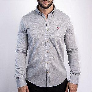 Camisa Cinza Custom Fit - Abercrombie