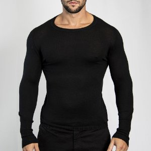 Suéter Slim Fit Man - Preto