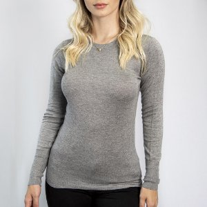 Suéter Slim Fit Girl Grey