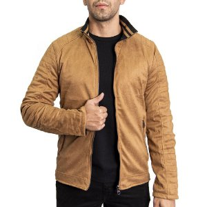 Jaqueta Suede Dupla Face Regular Fit - Caramelo
