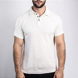 Camiseta Polo Malha Wafle Boston Off White - SOHO
