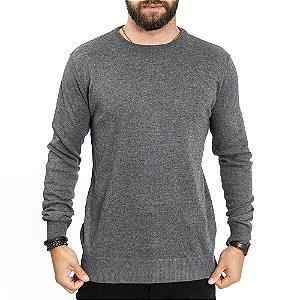 Suéter Basic Gola Careca John Sailor - Cinza Escuro