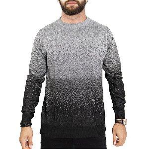 Suéter Degradê Gola Caraca John Sailor - Chumbo