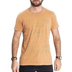 Camiseta Lhama Caramelo - HillJack