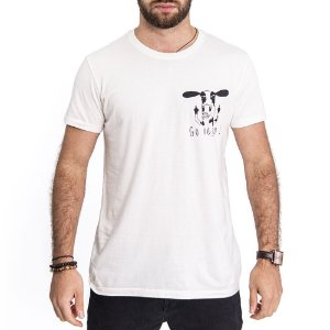 Camiseta Go Vegan Off White - HillJack