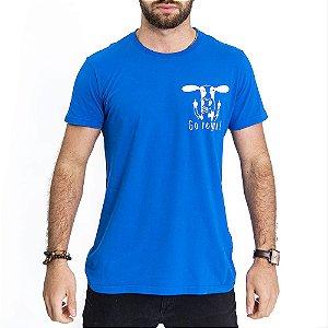 Camiseta Go Vegan Azul - HillJack