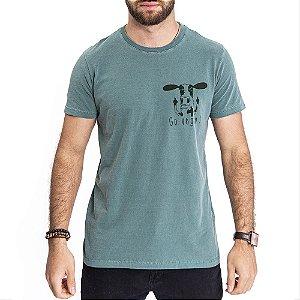 Camiseta Go Vegan Verde - HillJack