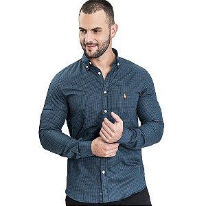Camisa Custom Fit Ocean - Ralph Lauren