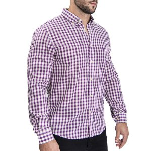 Camisa Custom Fit Purple Quadric - Ralph Lauren