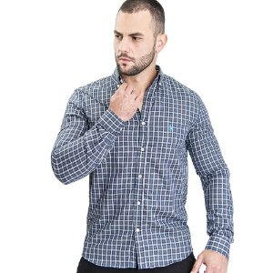 Camisa Custom Fit Gray Country - Ralph Lauren