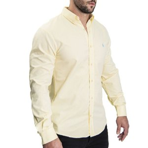 Camisa Custom Fit All Yellow- Ralph Lauren