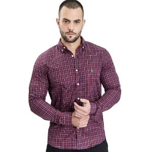Camisa Custom Fit Medium Red- Ralph Lauren