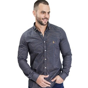 Camisa Custom Fit Brown Country - Ralph Lauren