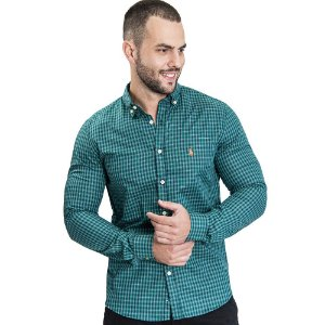 Camisa Custom Fit Green Country - Ralph Lauren