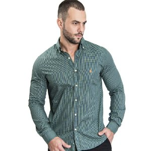 Camisa Custom Fit Clouds - Ralph Lauren