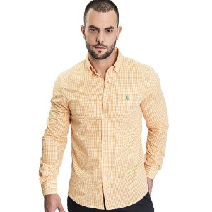 Camisa Custom Fit Medium Orange - Ralph Lauren