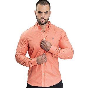 Camisa Custom Fit Peach - Ralph Lauren