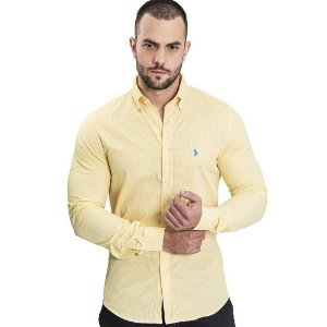 Camisa Custom Fit Li'l Yellow - Ralph Lauren