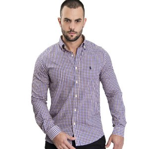 Camisa Custom Fit Blue Country - Ralph Lauren