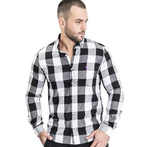 Camisa Custom Fit Black & White - Ralph Lauren