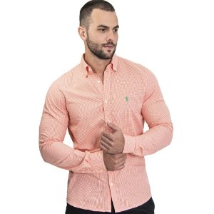 Camisa Custom Fit Li'l Orange - Ralph Lauren