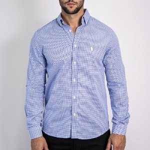 Camisa Custom Fit Li'l Blue - Ralph Lauren
