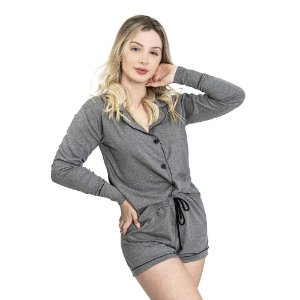 Pijama Camisaria Triplo in Grey