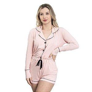 Pijama Camisaria Triplo in Baby Rose