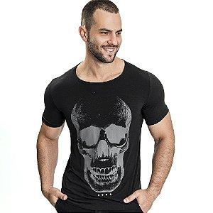 Camiseta Unissex Skull Preta - SOHO
