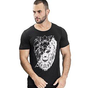 Camiseta Unissex Lion Forms Preta - SOHO