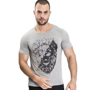 Camiseta Unissex Lion Forms Mescla - SOHO