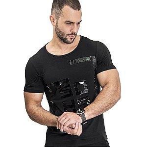 Camiseta Unissex Quadrado Preta - SOHO