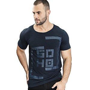 Camiseta Unissex Quadrado Marinho - SOHO