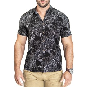 Camisa Pacific Blue Black Whales
