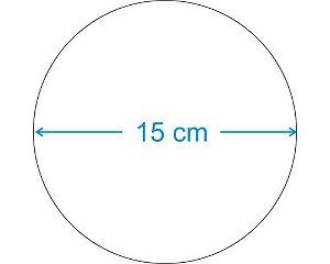 PLACA CIRCULAR EM MDF 15 CM DE DIÂMETRO