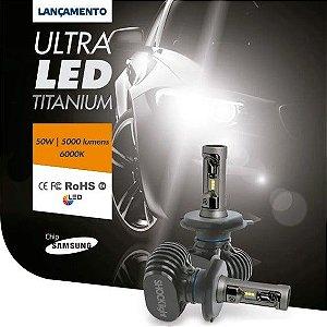 Par Lâmpada Shocklight Ultraled H4 6000k 12v 50w 5000lm