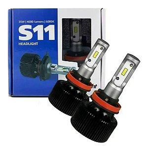 Par Lâmpada HeadLight S11 H4 6000K 35W 4000LM Shocklight