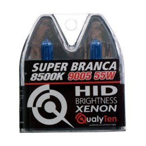 Par Lâmpada Farol Qualyten Super Branca Hb3 12V 55W