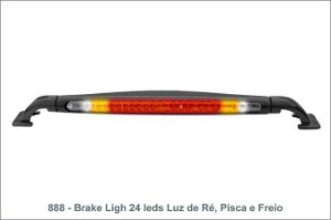 Brake Light 24cm Led Com Luz De Re E Pisca