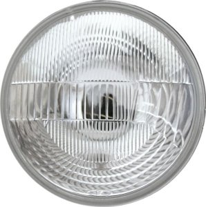 Farol Tipo Sealed Beam 180Mm Com Lâmpada 12V E Adaptador