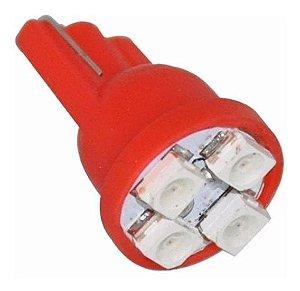 Lâmpada Led Esmagada High Power 12V Vermelha Par