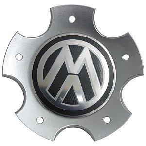 Calota Do Centro Da Roda Fox 5 Furos Prata Com Emblema