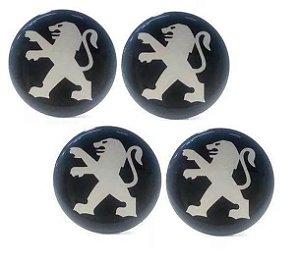 Jogo De Emblemas Adesivos Peugeot Para Rodas e Calotas 48mm