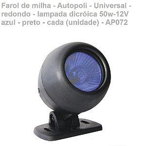 Farol De Milha 12V 50W Azul