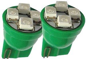 Lâmpada Led Esmagada High Power 12V Verde Par