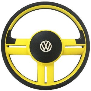 Volante Esportivo Tipo Surf Rally Universal Amarelo Sem Cubo