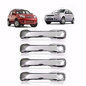 Aplique Cromado Da Maçaneta Eco Sport Fiesta 4 Portas