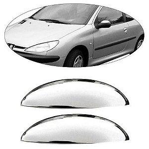 Aplique Cromado Da Maçaneta Peugeot 206 A 207 2 Portas
